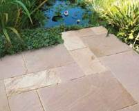 Tumbled Sandstone Paving