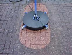 Cleaning Block Paving with a Rotary Washer