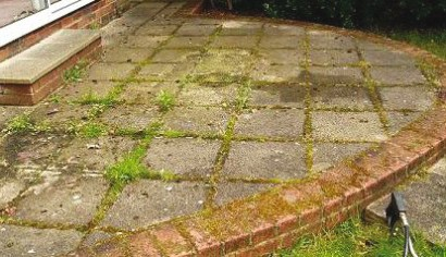 Cleaning Block Paving - Before