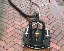 Cleaning Block Paving with a Rotary Cleaner