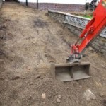 Excavation of a domestic driveway for a new tarmac driveway