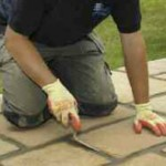 Installing Natural Stone Paving - 4. Grout the Joints Between the Natural Stone Paving with a Mortar Mix