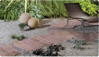 Natural Stone Paving Prices Quote - Polished Sandstone Planks and Wedges with Gravel inlays