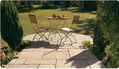 Natural Stone Paving Prices - Sandstone Octagon Patio