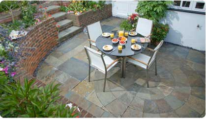 Slate Circle Patio Area