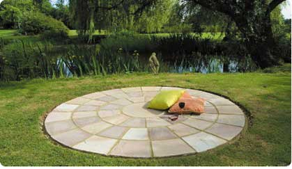 Natural Stone Paving Prices - Tumbled Sandstone Circle