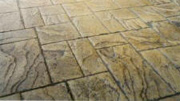Random Ashlar Stone Pattern Imprinted Concrete