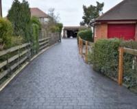 Driveway Quotes - London cobble pattern imprinted concrete driveway