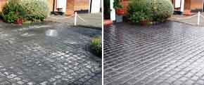 Cleaning and Sealing Stamped Concrete - Before and After