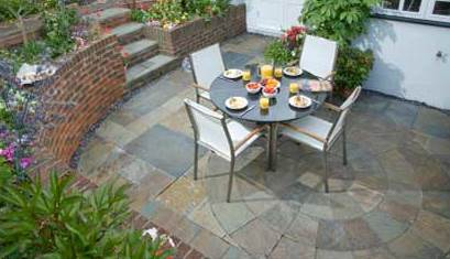 Natural Stone Slate Circle Patio