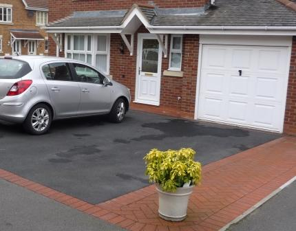 Driveway Prices - Tarmac Driveway with Block Paving Border