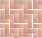 Herringbone 90° angle block paving pattern