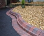 Tarmac Driveway with Block Paving Edging and Kerbs