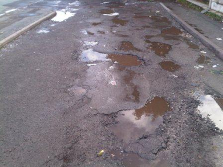 Tarmacadam surface in need of full replacement