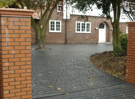 Pattern Imprinted Concrete Prices - Pattern Imprinted Concrete Driveway with Aco across driveway entrance