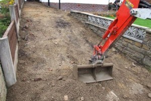 Excavation of a Domestic Driveway for Pattern Imprinted Concrete