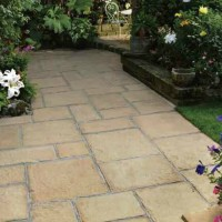 Natural Stone Paving with Planting Areas