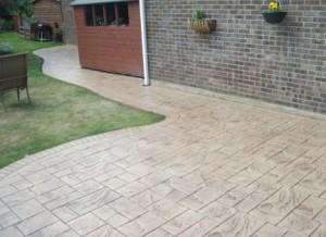 Random Ashlar Stone Pattern Imprinted Concrete