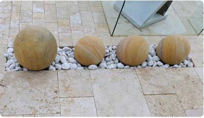 Natural Stone Paving Quote - Sandstone Spheres