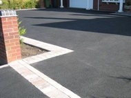 Tarmac Paving Prices - Tarmacadam Driveway with Block Paving Border