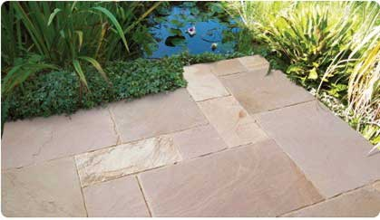 Natural Stone Paving Quote - Tumbled Sandstone Paving
