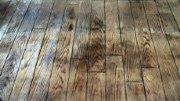 Pattern Imprinted Concrete Hardwood Floor