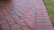 Pattern Imprinted Concrete Prices - New Brick Herringbone