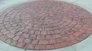 Pattern Imprinted Concrete Prices - Slate Circle