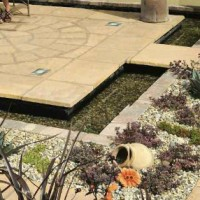 Natural Stone Paving QuoteContemporary Patio with Water Feature